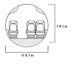 BBJ Max 8 Cross Section