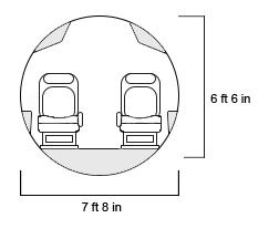Falcon 8X Cross Section