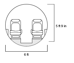 Hawker 800XP Cross Section