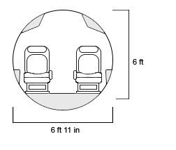 Legacy 650E Cross Section