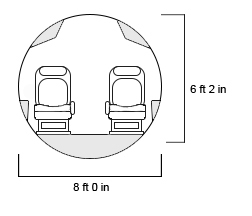 Global 7500 Interior Cross Section